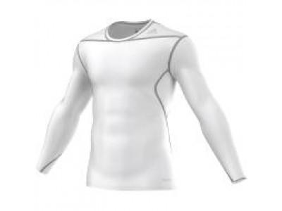 Adidas kompressions-trøje L/S - hvid