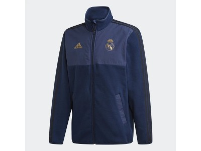 Real Madrid fleece jakke 2019/20 - navy-guld