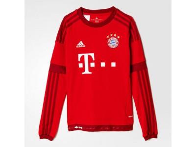 Bayern München hjemme trøje Lange Ærmer 2015/16 - børn