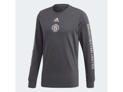 Manchester United t-shirt L/Æ 2020/21  - carbon