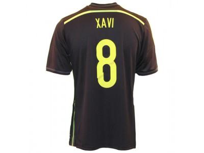 Spanien ude trøje 2014 - børn - Xavi 8