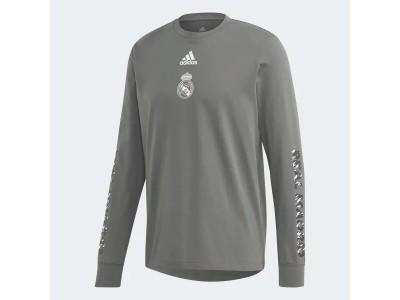 Real Madrid leisure retro tshirt L/Æ - grå