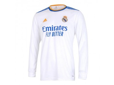 Real Madrid hjemme trøje L/Æ 2021/22 - børn - fra adidas