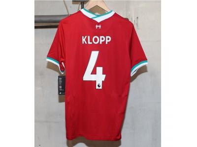 Liverpool hjemme trøje 2020/21 - Klopp 4 - fra Nike