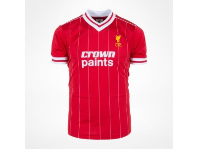 Liverpool 1982 hjemme trøje retro Crown Paints