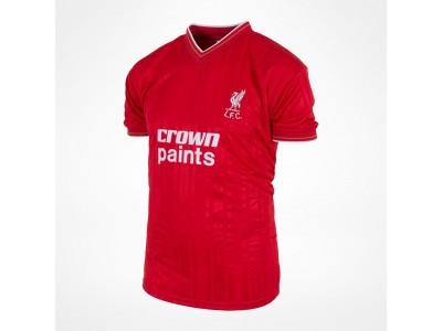 Liverpool 1986 hjemme retro trøje  - Crown Paints
