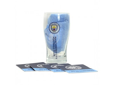 Manchester City mini bar sæt - Man City glas