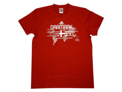 Danmark DBU t-shirt VM 2010 - rød