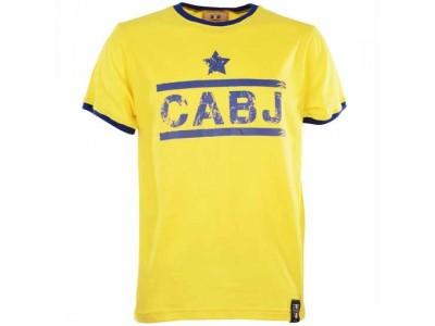 Cabj Boca Juniors T-Shirt - Yellow/Royal Ringer