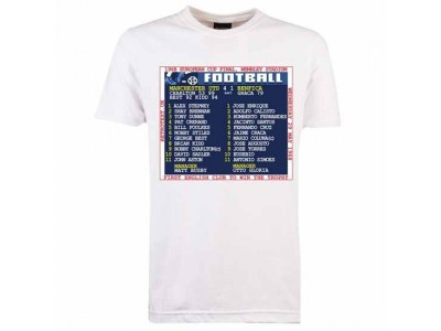 Manchester United 1968 European Cup Final Retrotext T-Shirt - Hvid