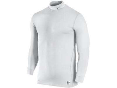 pro combat tætsiddende thermo trøje høj hals - hvid