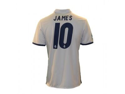 Real Madrid hjemme trøje - James 10 - skæv