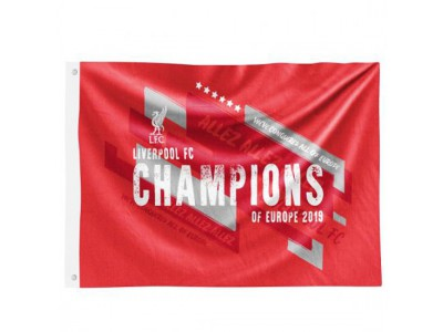 Liverpool Champions of Europe 2019 Flag