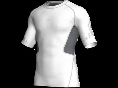 kompression tætsiddende trøje - hvid