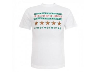 Liverpool t-shirt Xmas 5 Stars Tee - hvid