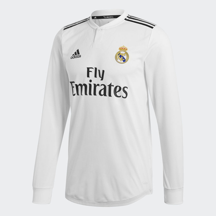 Real Madrid home jersey authentic L/S 2018/19-M