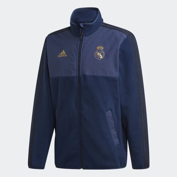 Image of   Real Madrid fleece jacket 2019/20 - navy - gold-M