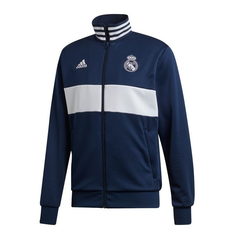 Image of   Real Madrid track top 2019/20 - navy - white-M