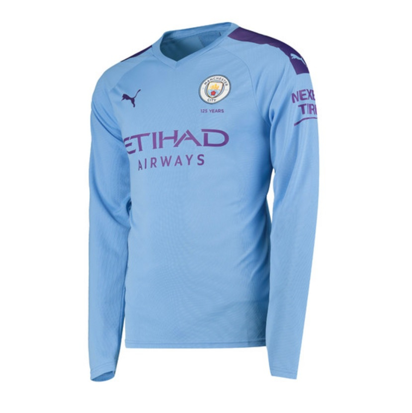 Image of   Manchester City home jersey L/S 2019/20 - mens-M