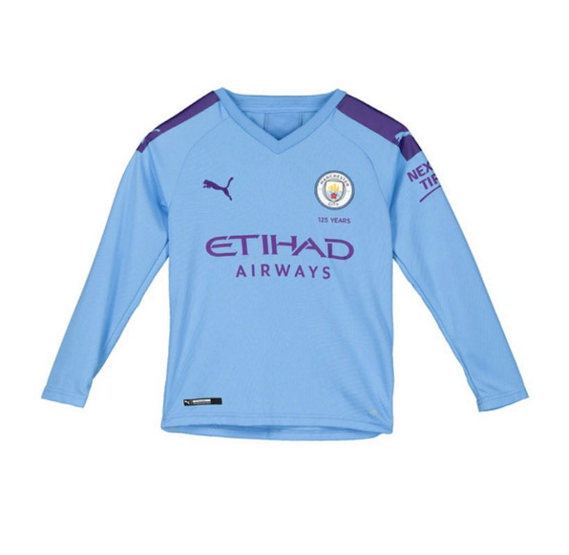 Image of   Manchester City home jersey L/S 2019/20 - youth-164 | YXL
