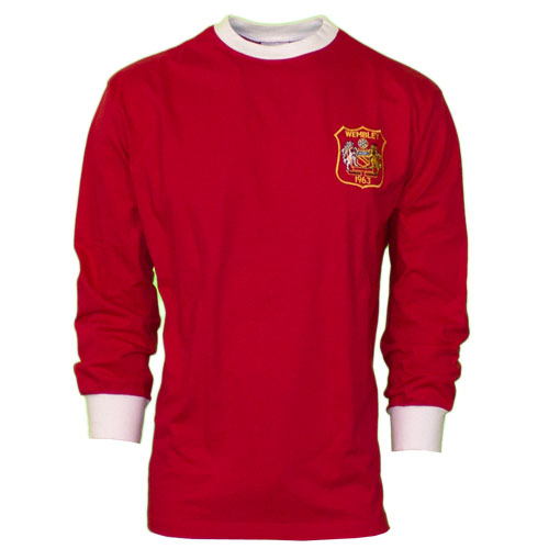 Image of   Manchester United retro jersey long sleeve 1963-L