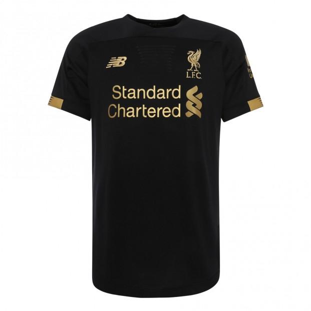 2019-2020 Liverpool Home Short Sleeve Goalkeeper Shirt (Black)-L
