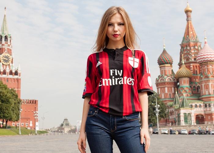 AC Milan rød sort trøje Røde Plads