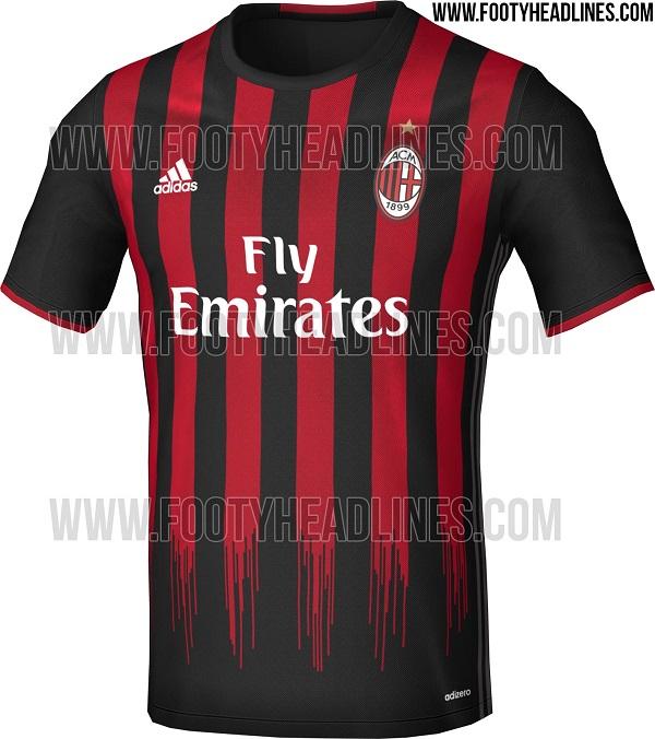 AC Milan hjemme trøje 2016/17