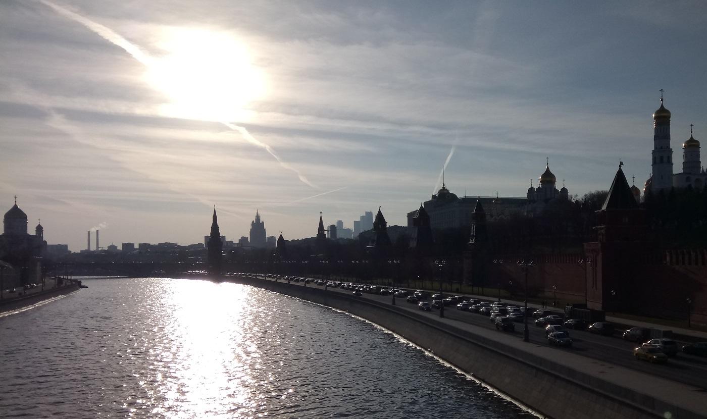 Moskva solskin Kremlin