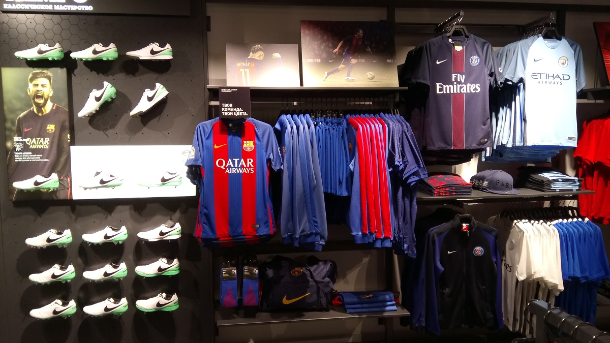 Nike Town fodbold i Moskva