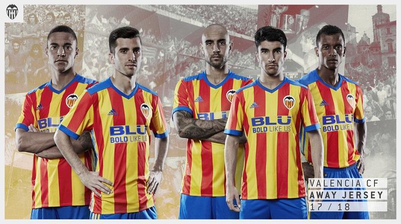 Ny Valencia ude trøje 2017/18