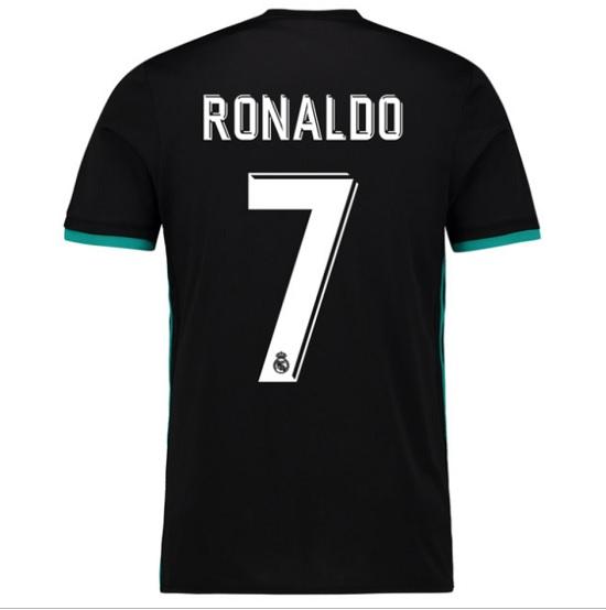Real Madrid ude trøje Ronaldo 7 tryk