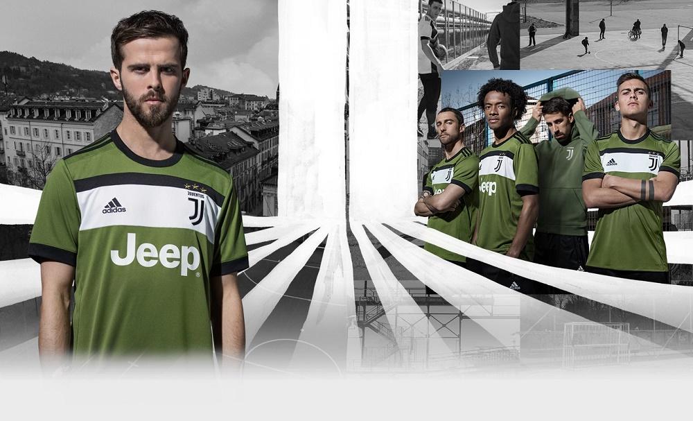 Juventus 3. trøje 17/18 i grøn