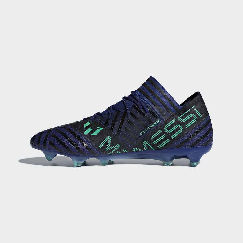 Messi støvler i blå grøn