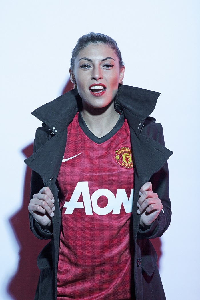Manchester United girl cotton coat
