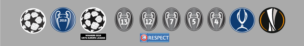 UEFA badges CL mærker