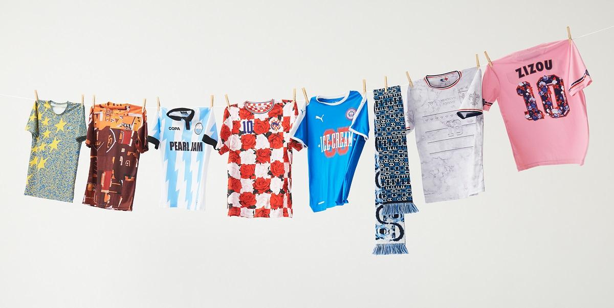 Fodboldtrøjer på tørresnor